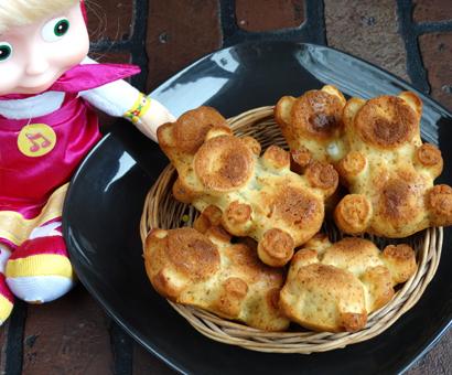 Домашние пирожные Барни с начинкой