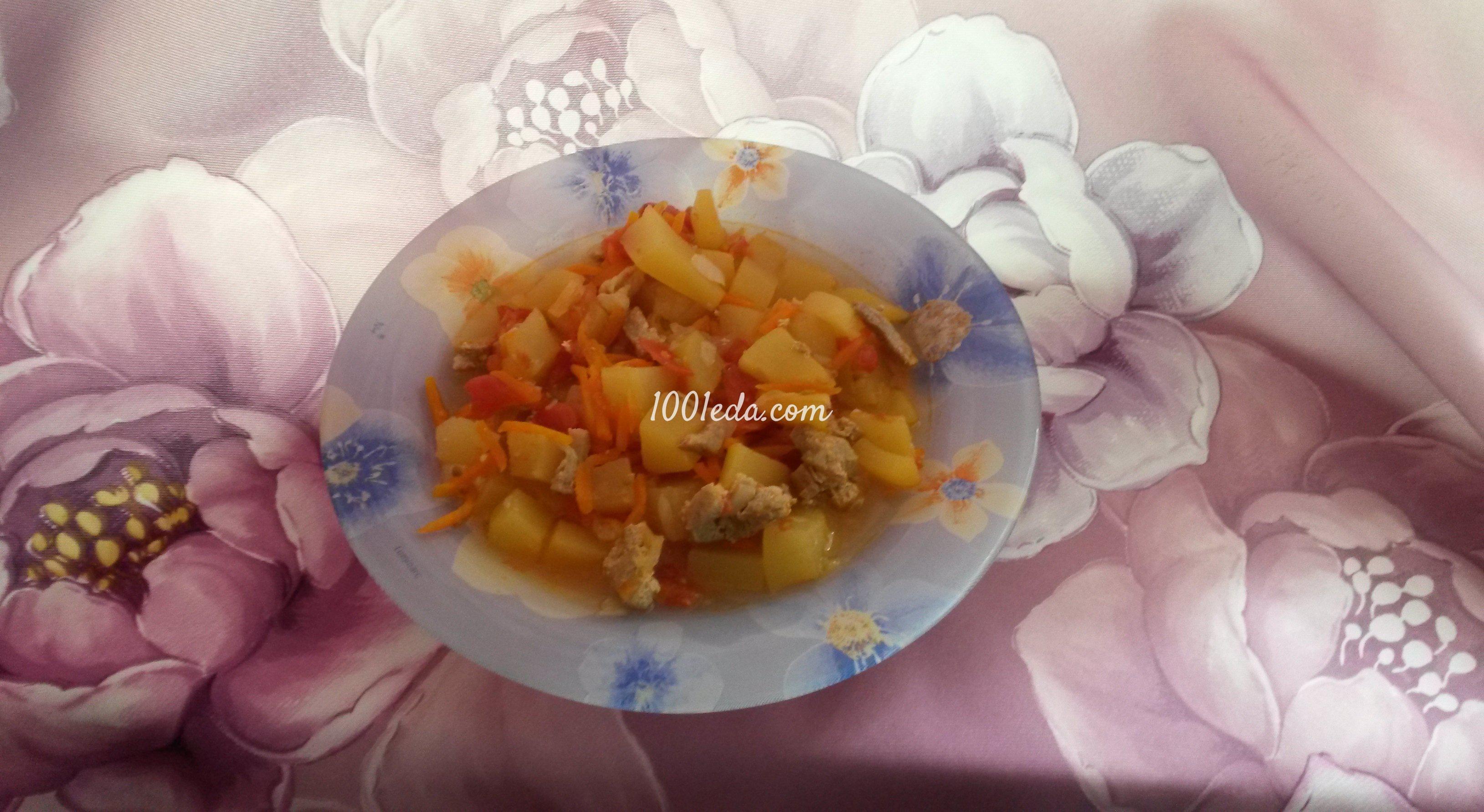 Грудка с овощами на сковороде рецепт с пошагово