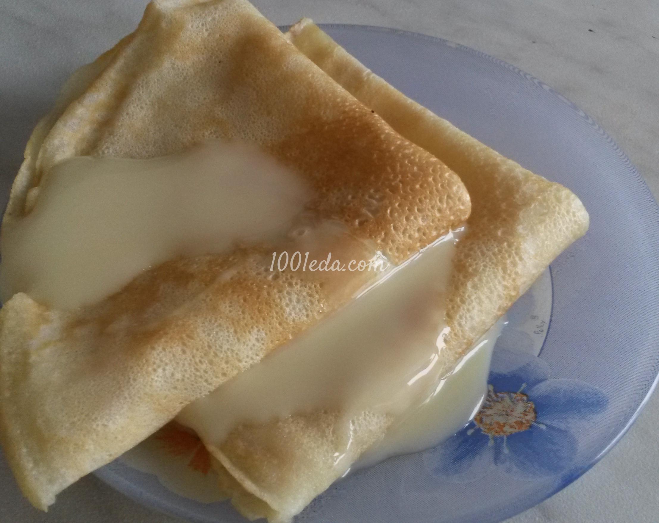 Ажурные блинчики на молоке заварные