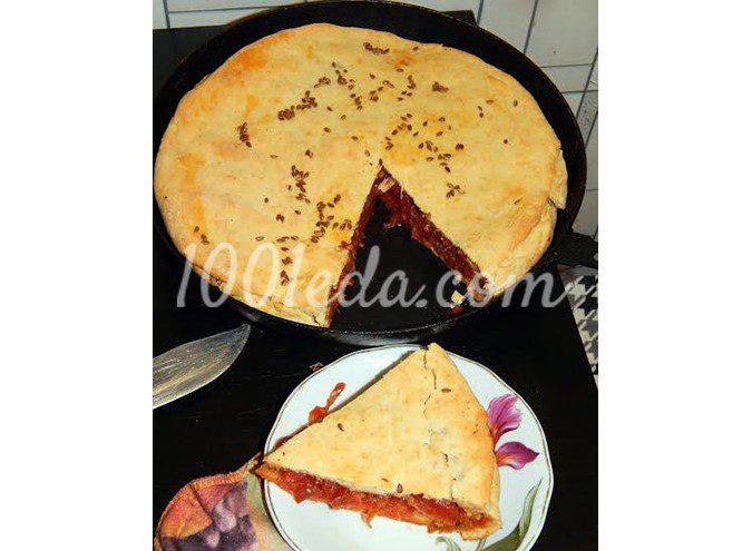 Песочный пирог с маринованной капустой и яйцом: рецепт с пошаговым фото