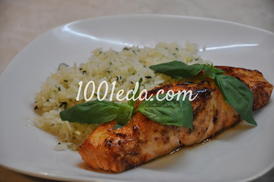 Сёмга с жасминовым рисом и базиликом: рецепт с пошаговым фото