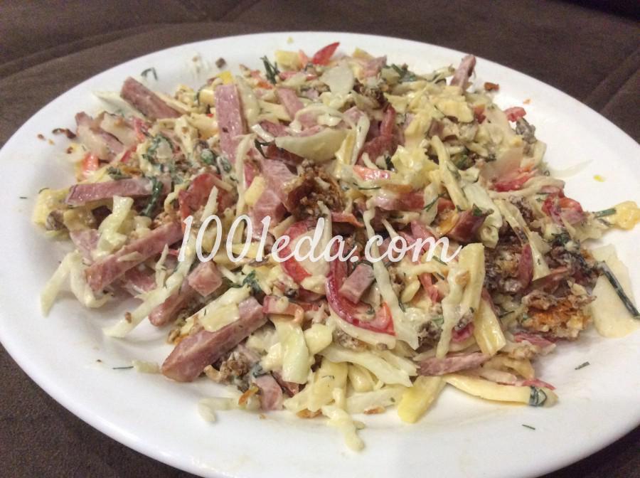 Салат воронье гнездо рецепт с фото