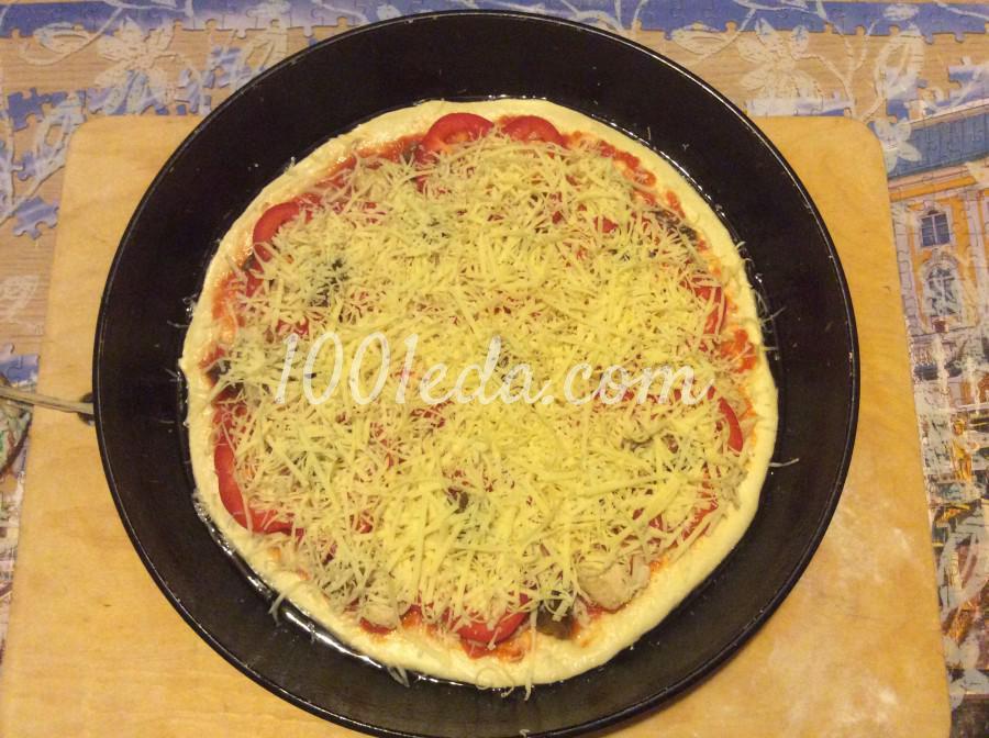 Пицца с курицей и помидорами рецепт пошагово