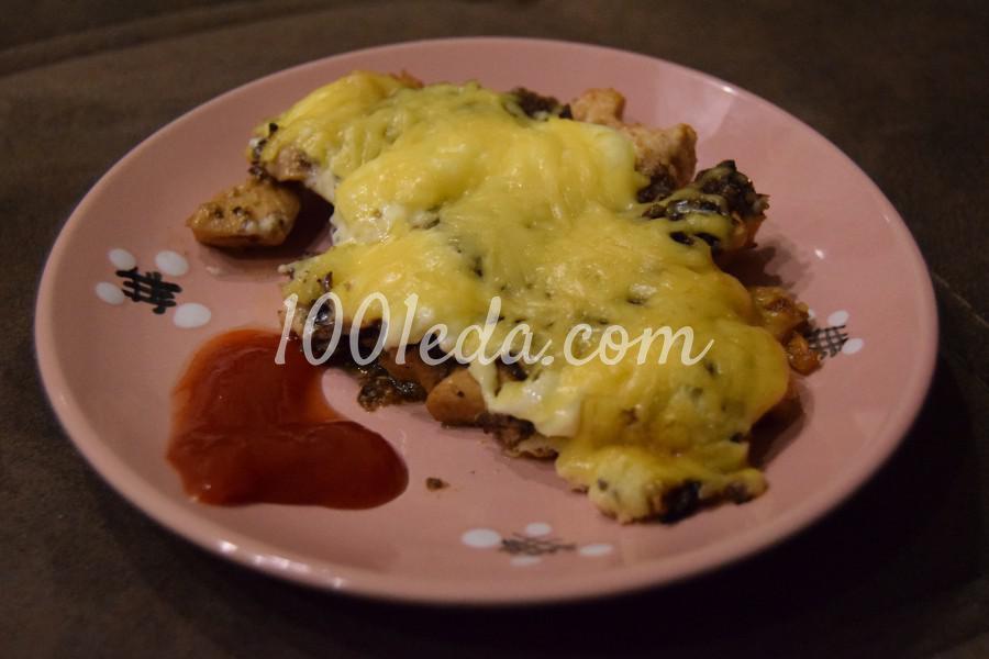 курица и макароны в духовке рецепт с фото