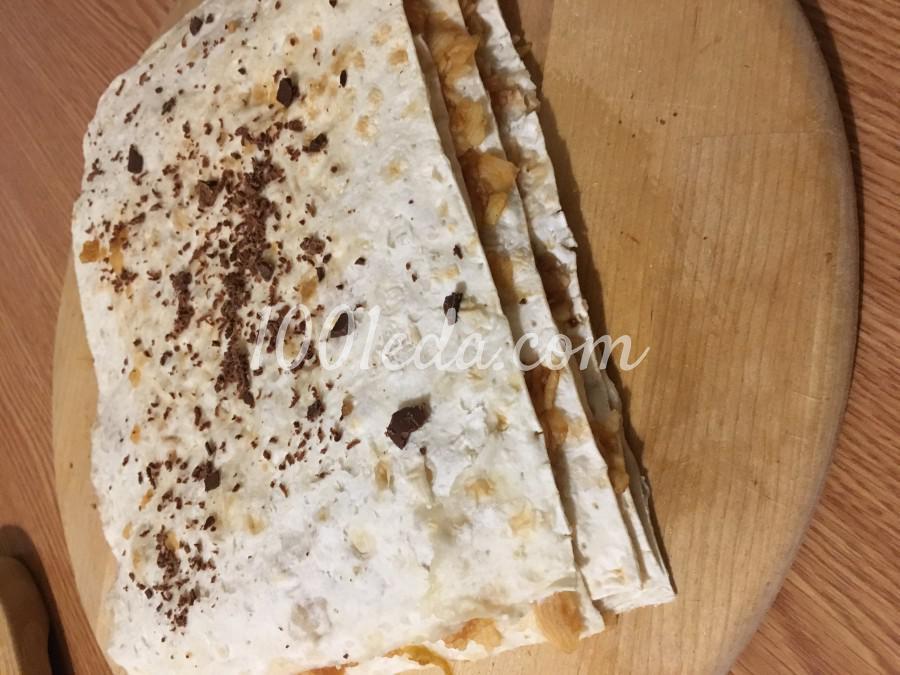 Сочный десерт из лаваша и яблок без выпечки: рецепт с пошаговым фото - Шаг №8