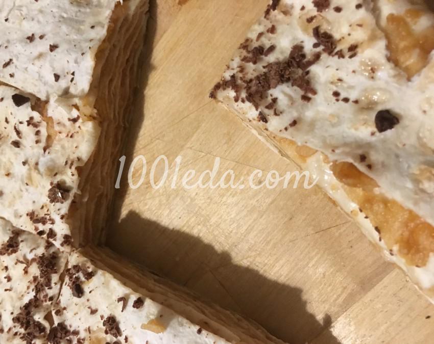 Сочный десерт из лаваша и яблок без выпечки: рецепт с пошаговым фото