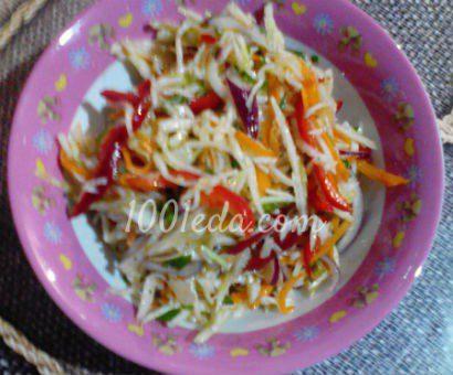 Овощной салат с перцем и красным луком
