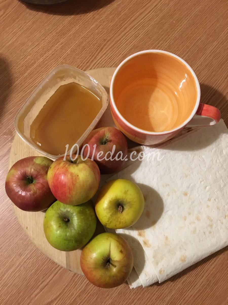 Сочный десерт из лаваша и яблок без выпечки: рецепт с пошаговым фото - Шаг №1