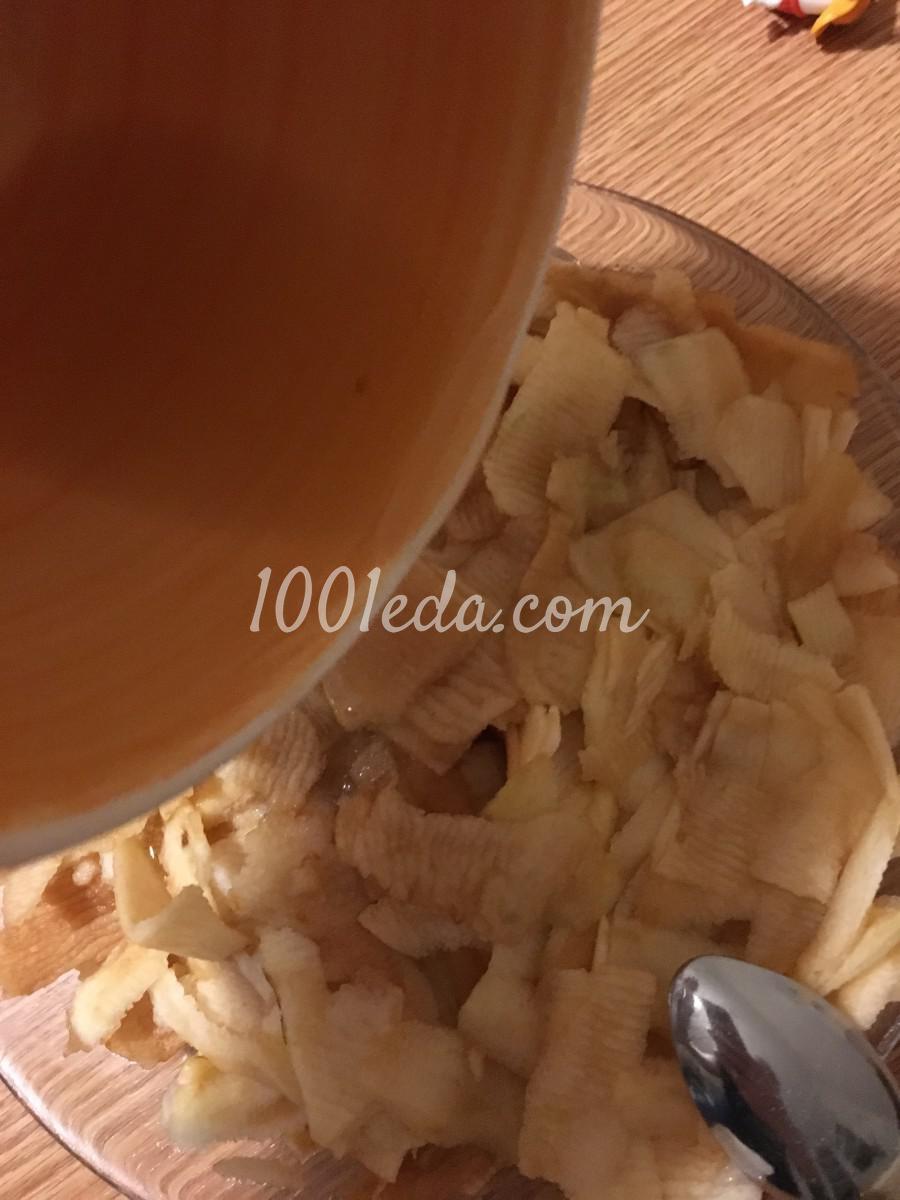 Сочный десерт из лаваша и яблок без выпечки: рецепт с пошаговым фото - Шаг №5