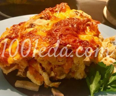 Пирог из лаваша с курицей и грибами: рецепт с пошаговым фото