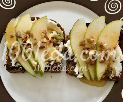 Правильный перекус с грушей и орехами