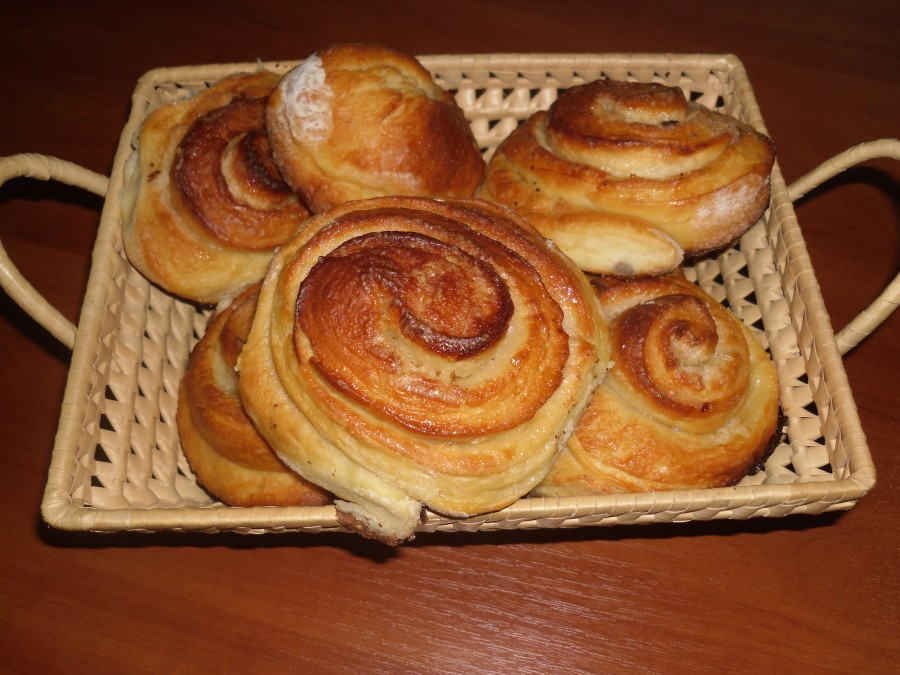 Как сделать простой рецепт булочки с 55