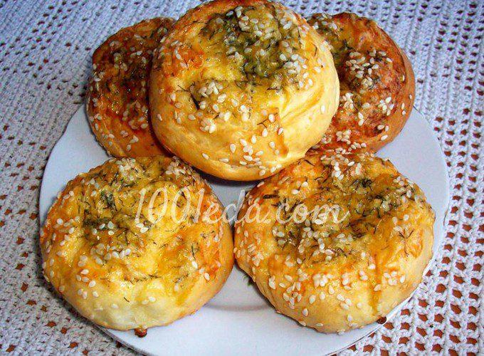 рецепт сырных булочек с кунжутом