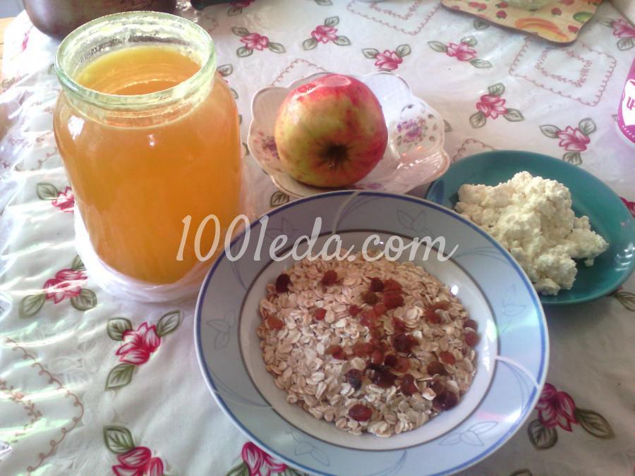 Овсянка с творогом и мёдом - рецепт пошаговый с фото