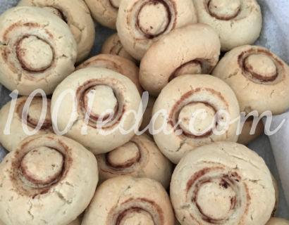 Печенье шампиньоны: рецепт с пошаговым фото