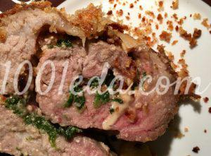 Рулет из свинины в панировке