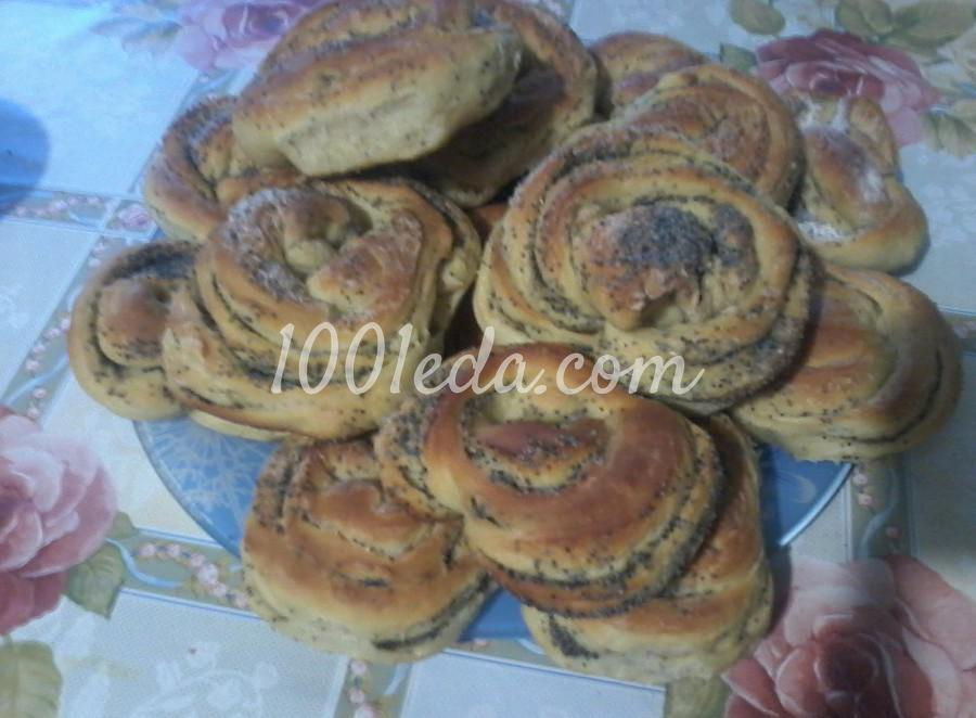 Рецепт булочек на кефире с маком