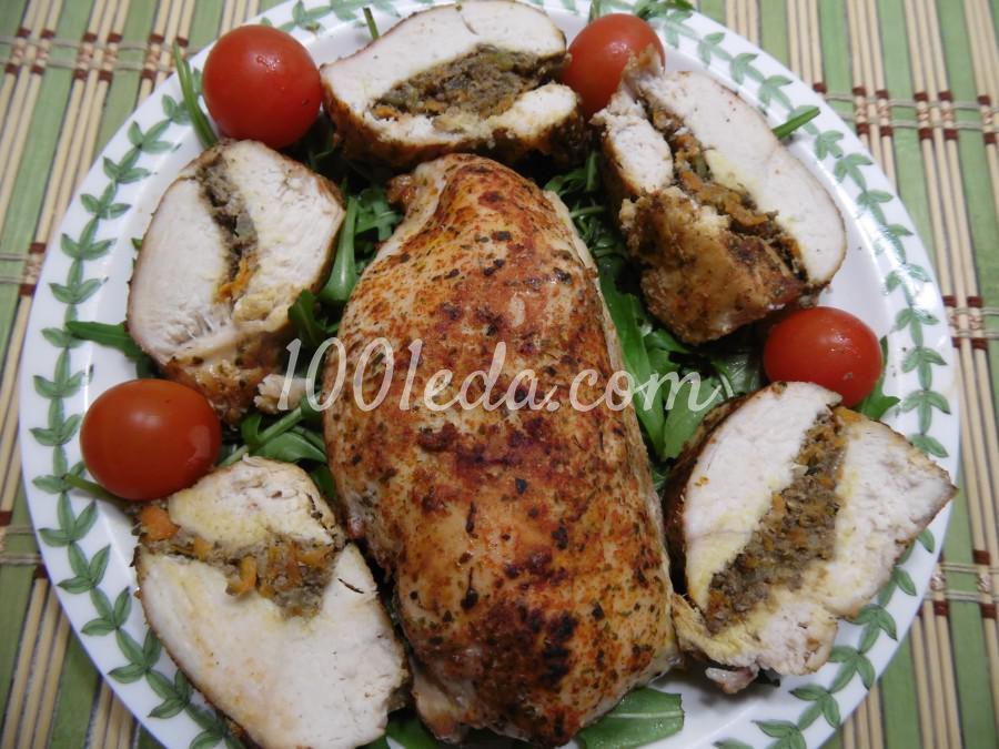 Куриные грудки, фаршированные печеночным паштетом