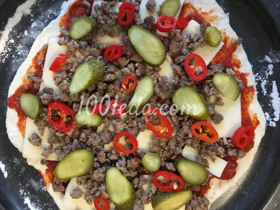 Пицца сытная мужская: рецепт с пошаговым фото - Шаг №4