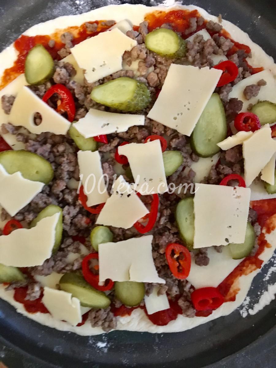 Пицца сытная мужская: рецепт с пошаговым фото - Шаг №5