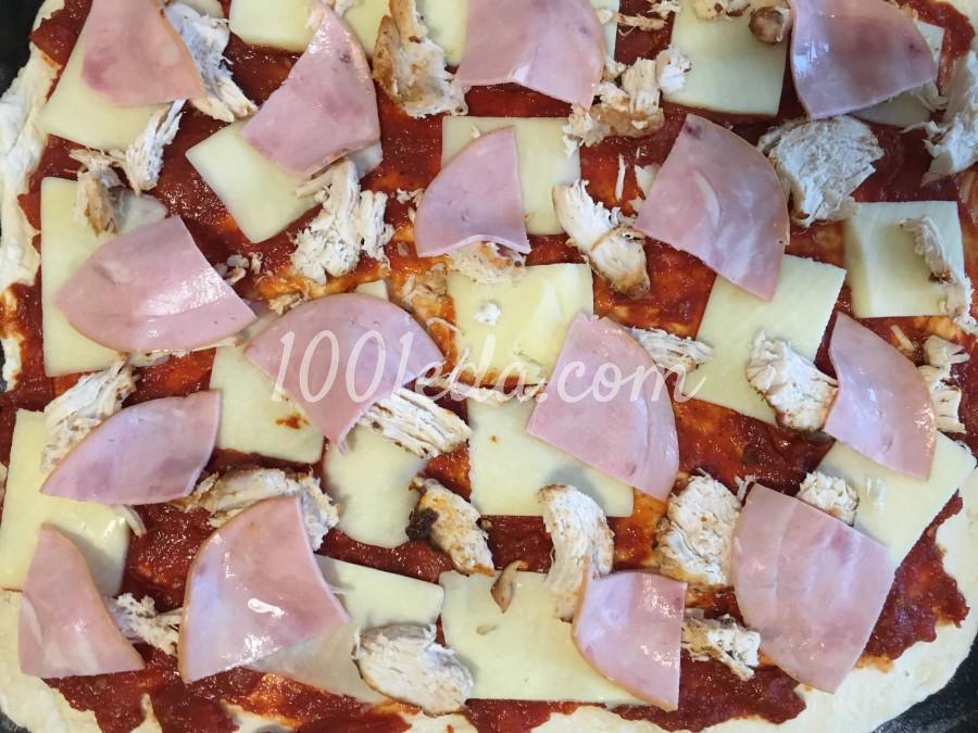Пицца сытная мужская: рецепт с пошаговым фото - Шаг №7