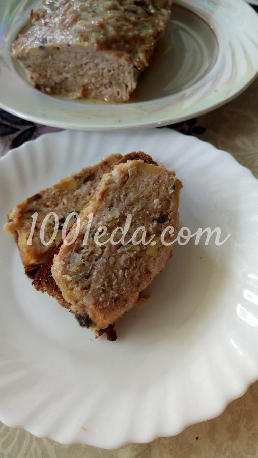 Мясной хлеб с шампиньонами и сыром: рецепт с пошаговым фото