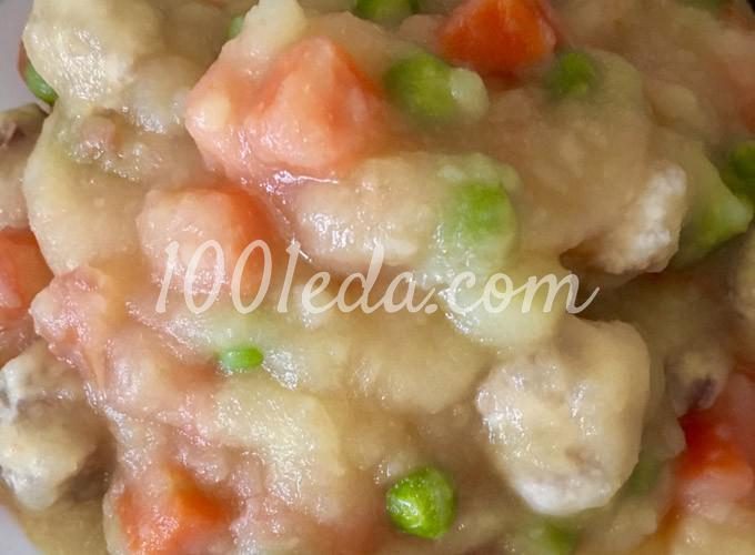 Тушеные овощи с мини-фрикадельками для малышей: рецепт с пошаговым фото