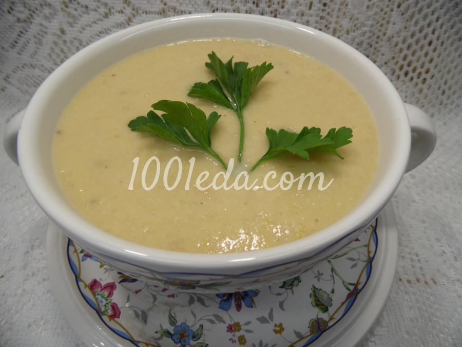 Суп-пюре из красной рыбы и пшена