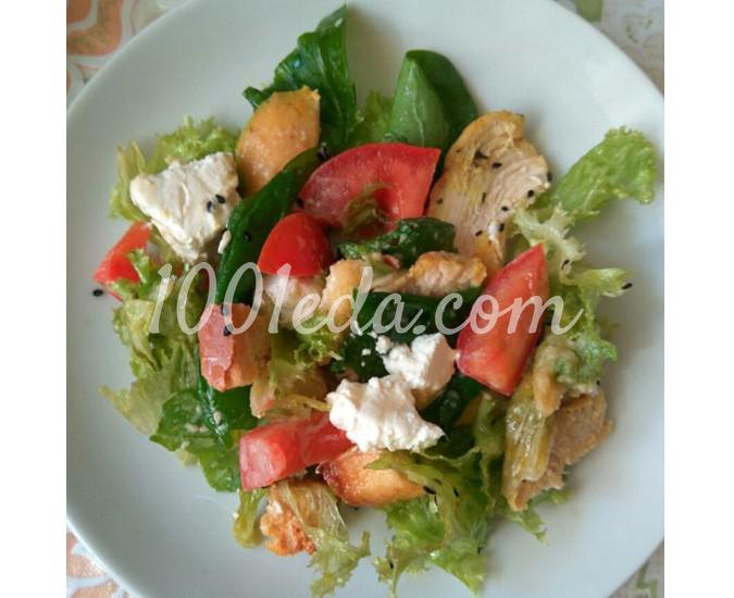 салат цезарь рецепт фета