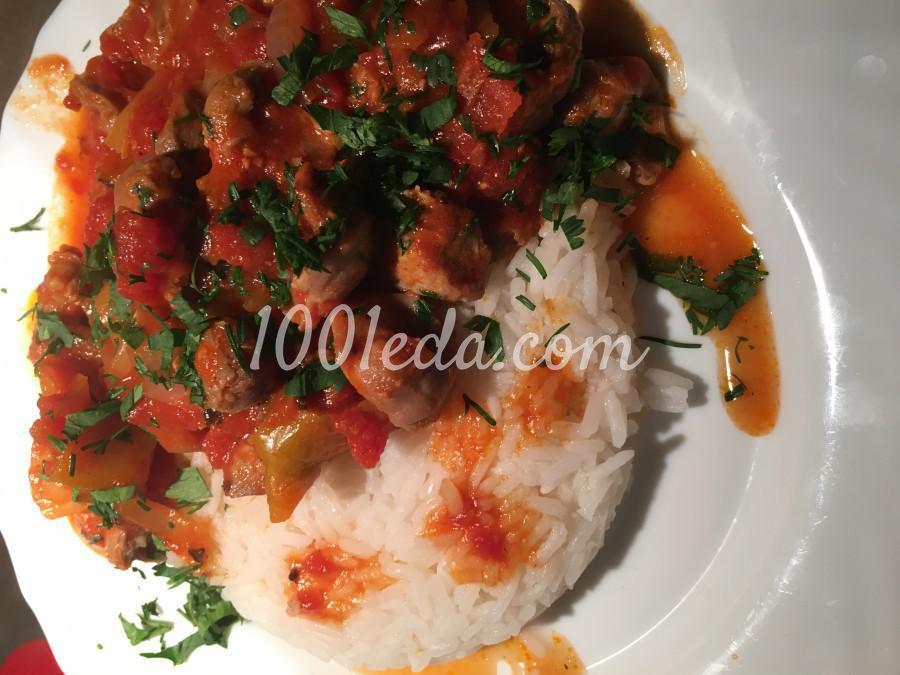 Жаркое из куриных желудочков с овощами: рецепт с пошаговым фото
