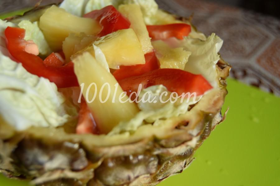Овощной салат из ананаса и китайской капусты