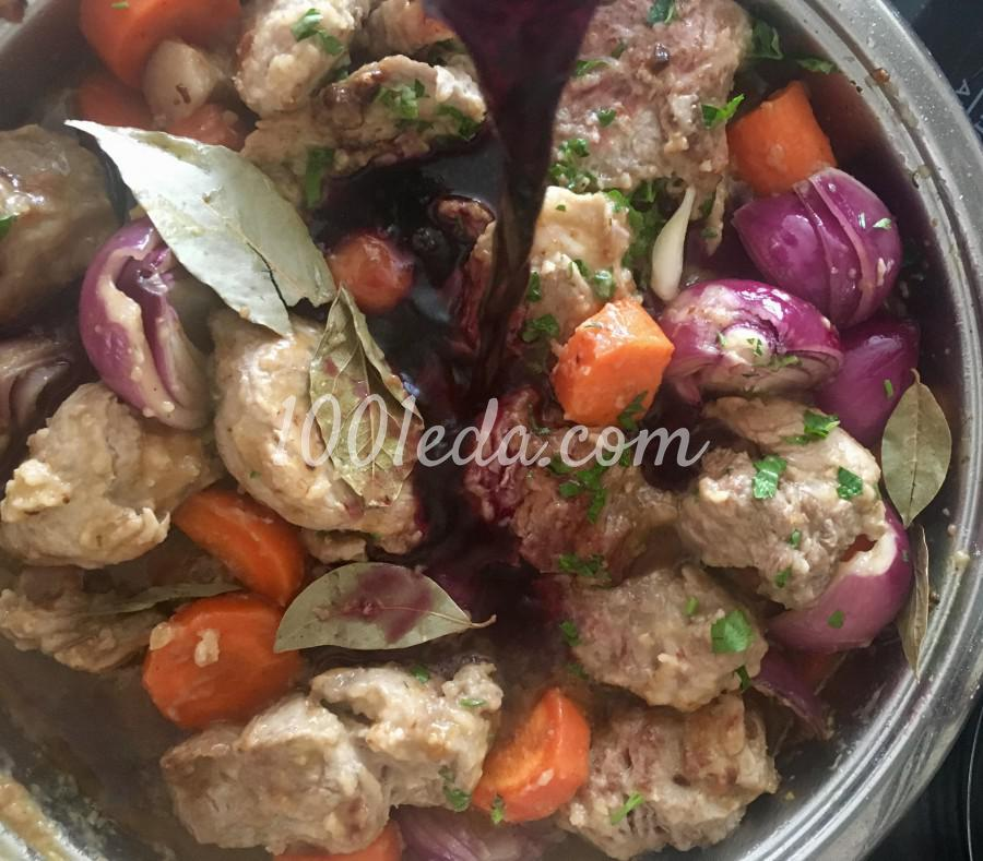 Мясо по-бургундски из свинины: рецепт с пошаговым фото - Шаг №8