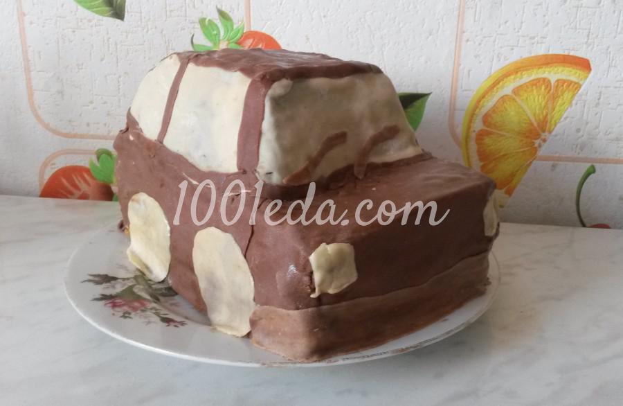 Пошаговый рецепт торт-машина с фото