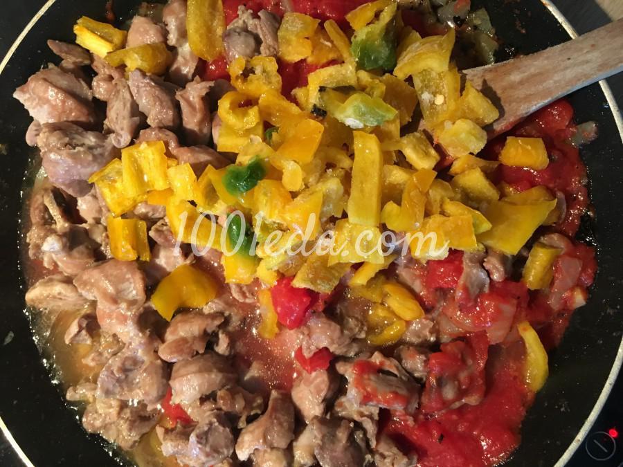 Жаркое из куриных желудочков с овощами: рецепт с пошаговым фото - Шаг №5