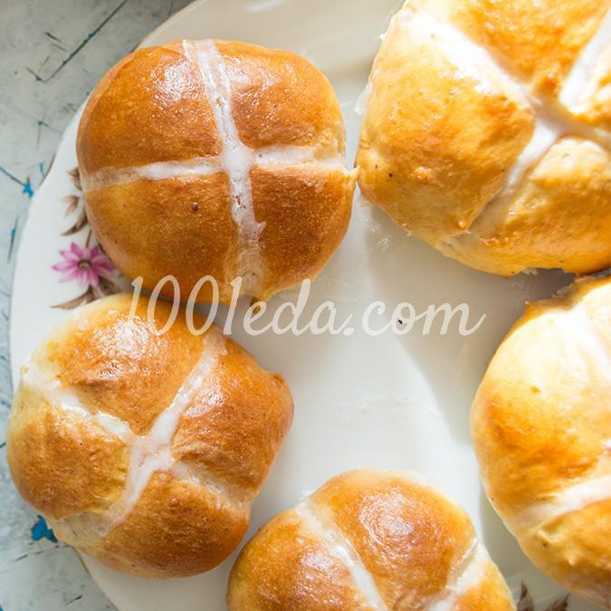 Ароматные пасхальные булочки кросс-банс: рецепт с пошаговым фото
