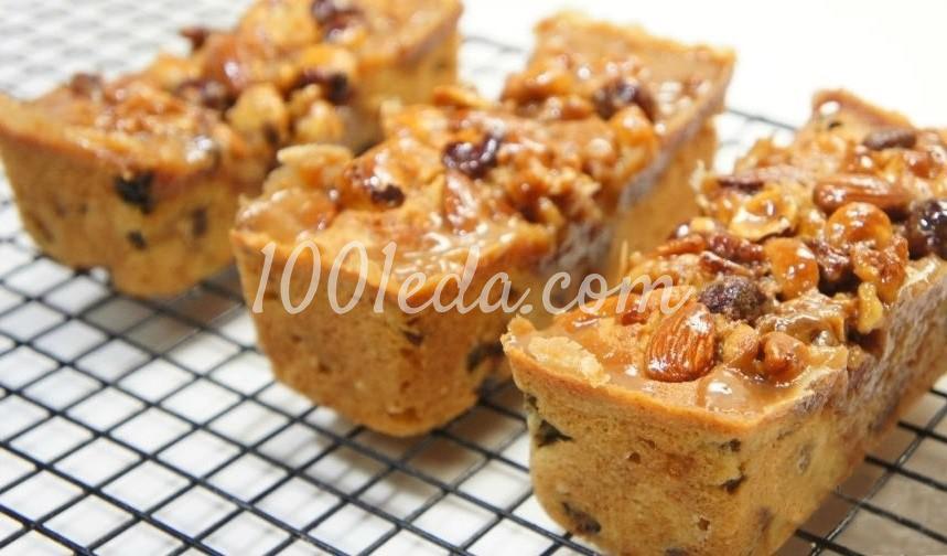 Медовые кексы с орехами, клюквой и изюмом: пошагово с фото