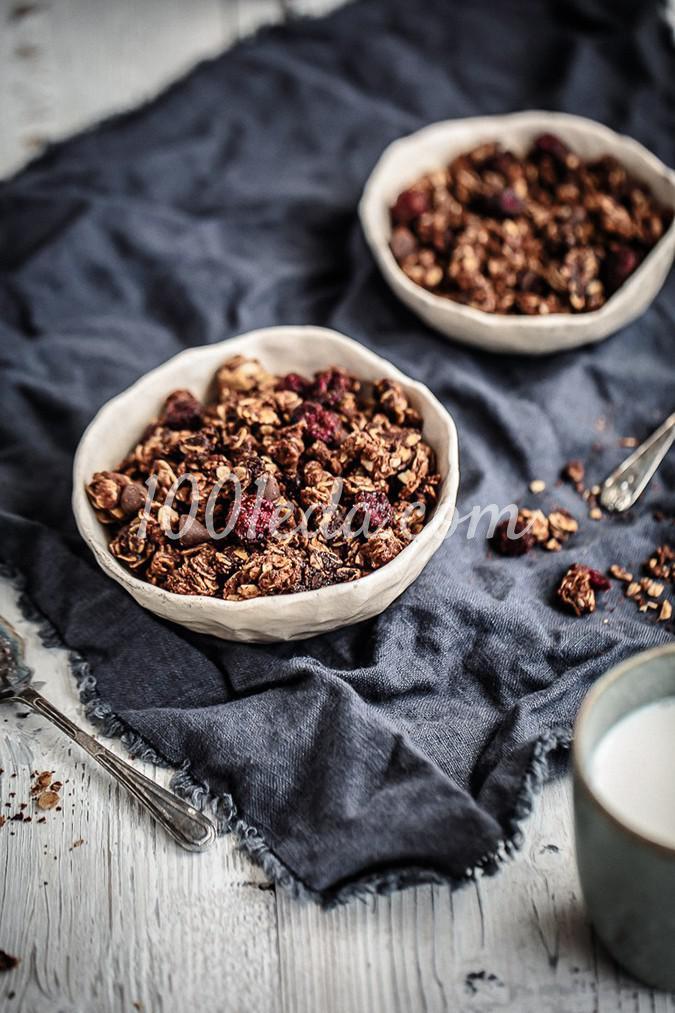 Гранолоа на завтрак с нутеллой и клюквой