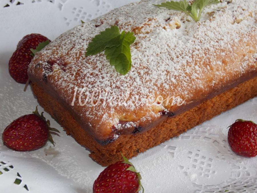 Сметанный кекс с клубникой: пошаговое фото
