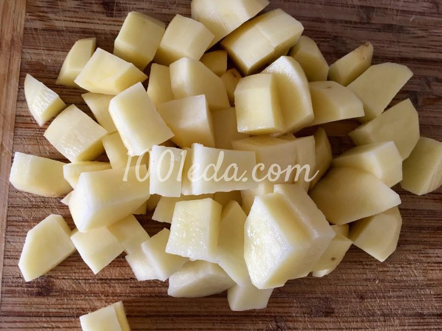 Горшочки с картофелем, грибами и сердечками: пошаговый с фото - Шаг №3