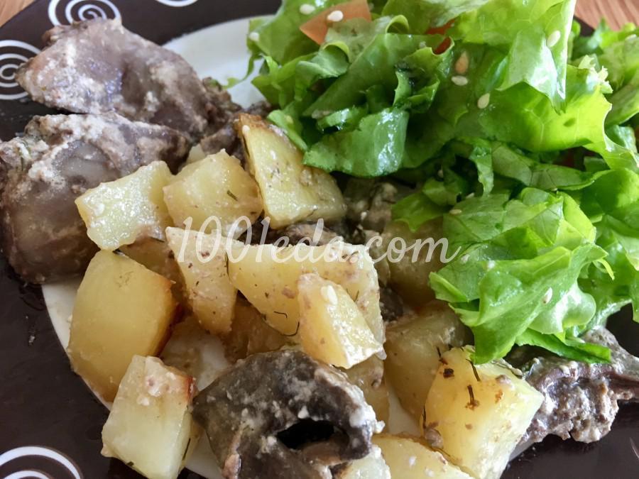 Горшочки с картофелем, грибами и сердечками: пошаговый с фото
