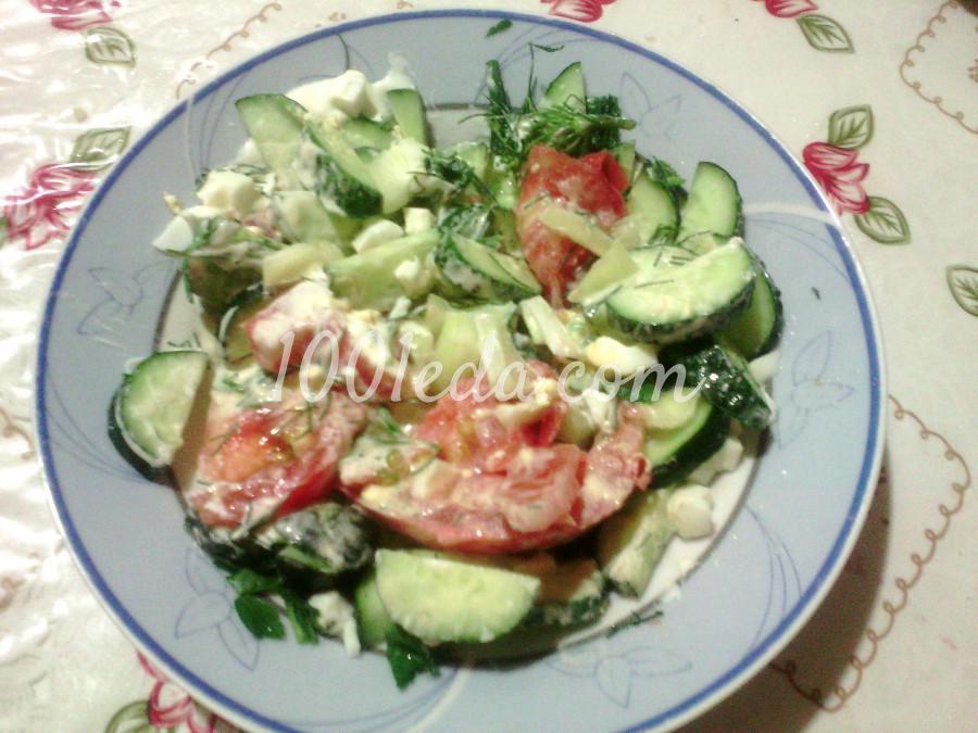 Летний простой салат с помидорами