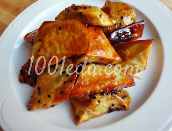 Засахаренный сладкий картофель: пошаговое фото