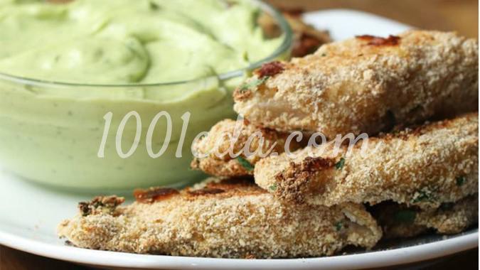 Рыбные палочки с соусом из авокадо: рецепт с пошаговым фото