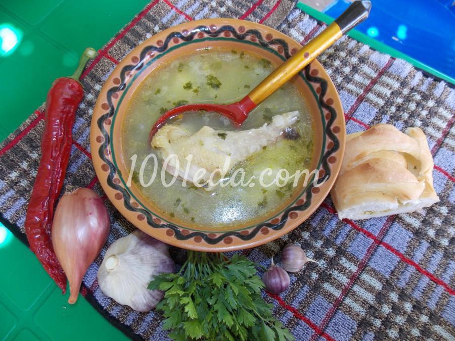 Простой картофельный суп с домашней курочкой