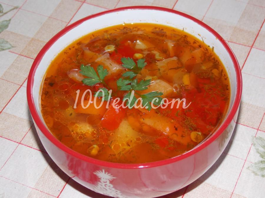 Сытный суп в духовке