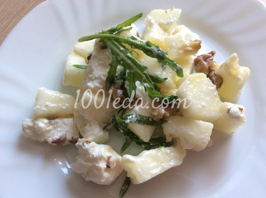 Салат с дыней и брынзой: пошаговое фото