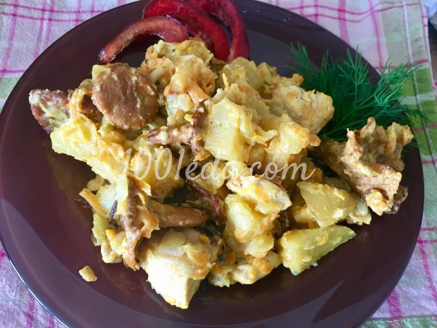 Жаркое с картофелем и лисичками: пошаговый с фото