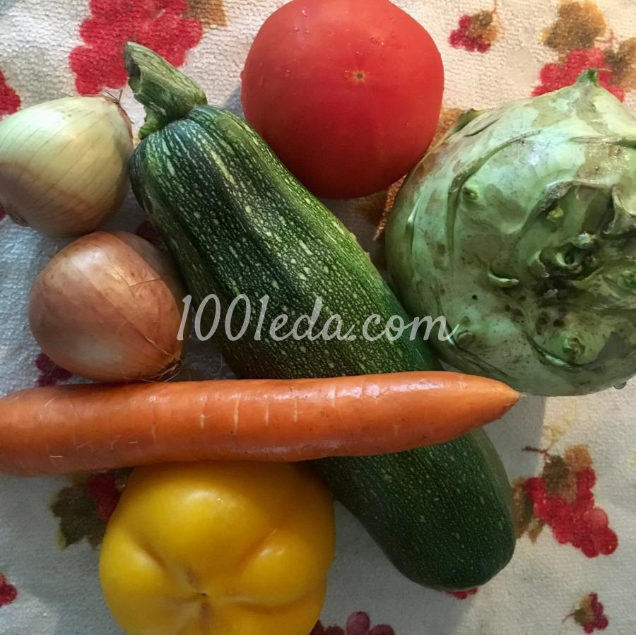 Овощной суп по-деревенски: пошаговое фото - Шаг №1