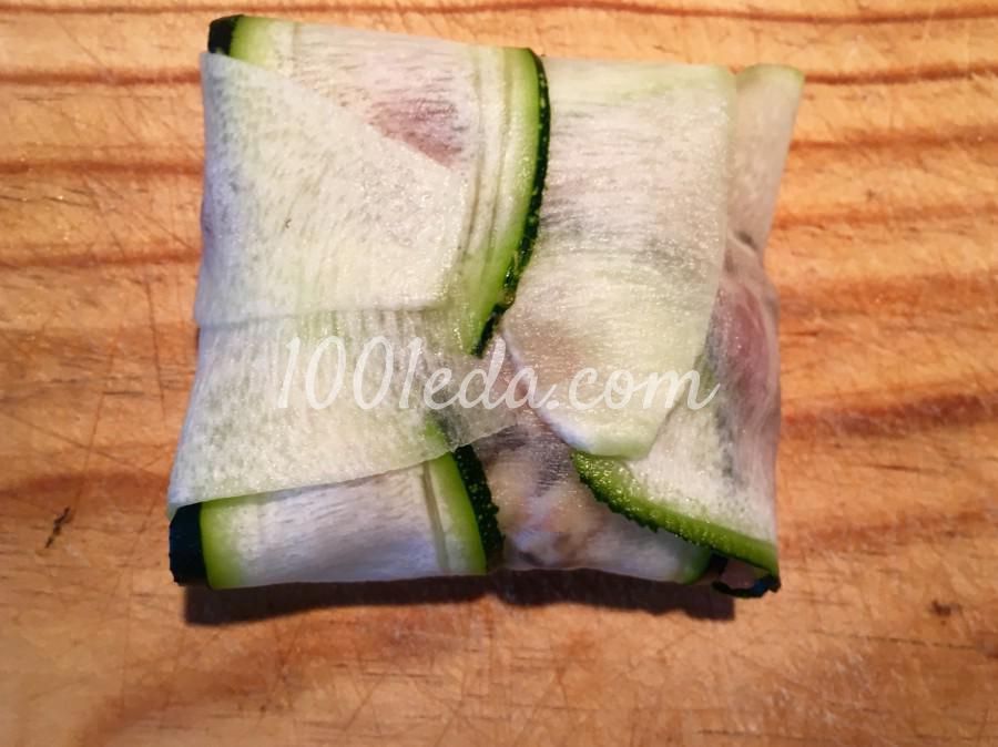 Фаршированные кармашки из кабачков: пошаговый с фото - Шаг №8