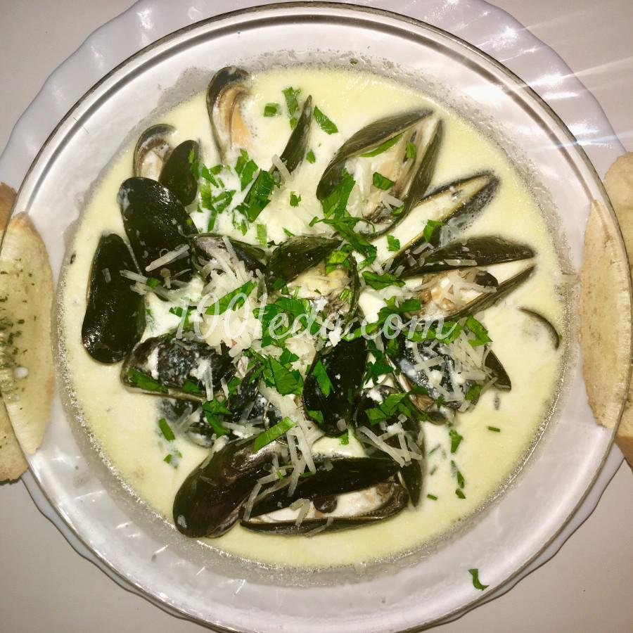 Мидии в сливочном соусе: пошаговое фото